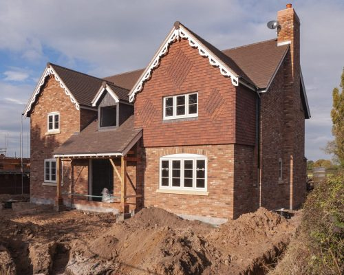 New build house near completion UK